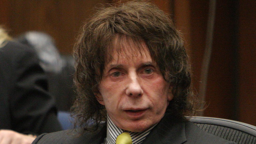 Phil Spector in a courtroom