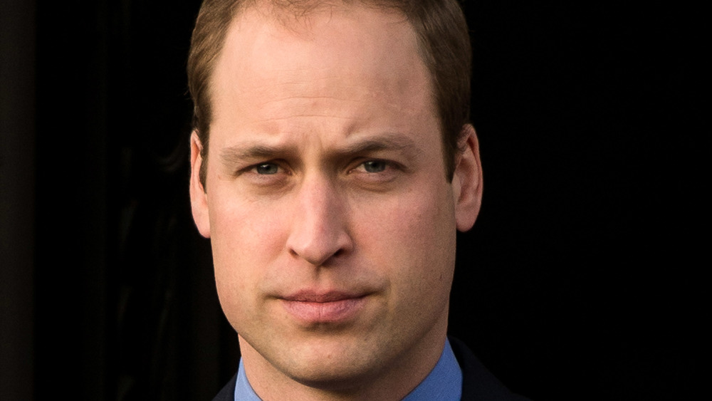 Prince William looking stern