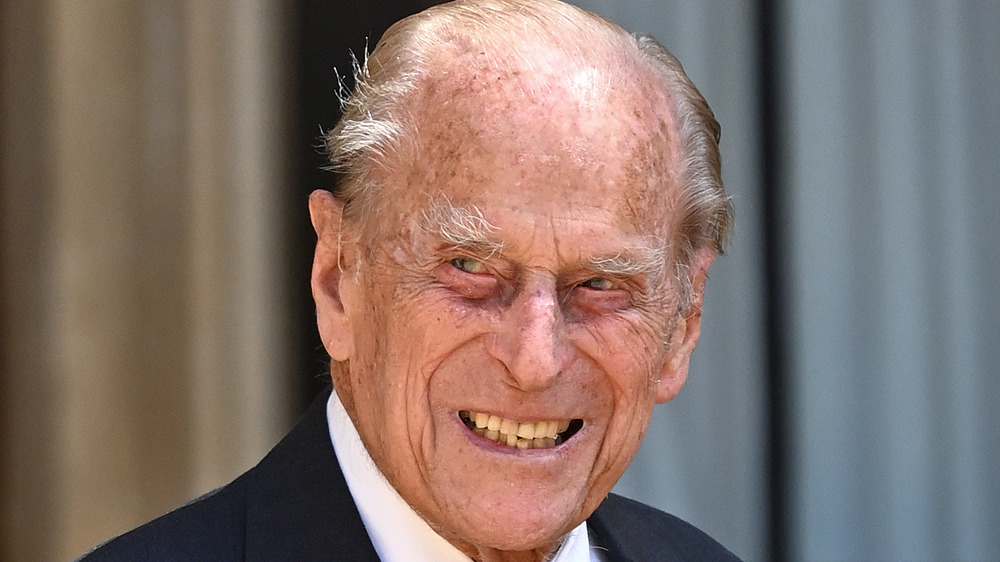 Prince Philip attends a ceremony in 2020