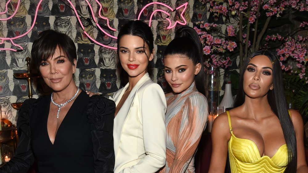 Kris Jenner, Kendall Jenner, Kylie Jenner, and Kim Kardashian-West at a dinner hosted by The Business of Fashion