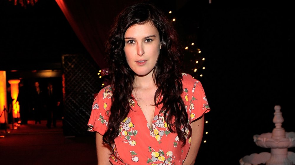 Rumer Willis with long, brunette hair