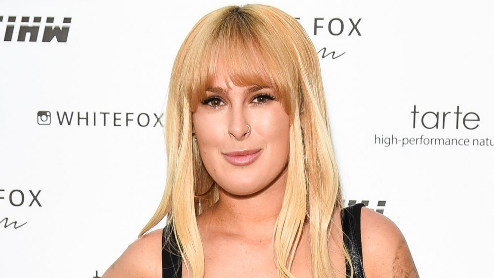 Rumer Willis with blonde hair