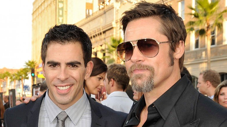 bd12cb5725c12 Brad Pitt's Inglourious Basterds co-star Eli Roth told People the hunk  doesn't have too much time to shower and has even shared tips on how to  beat the ...