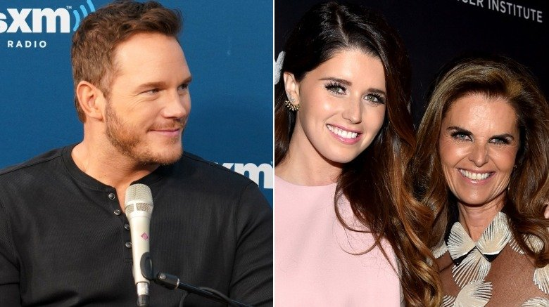 Chris Pratt, Katherine Schwarzenegger and Maria Shriver