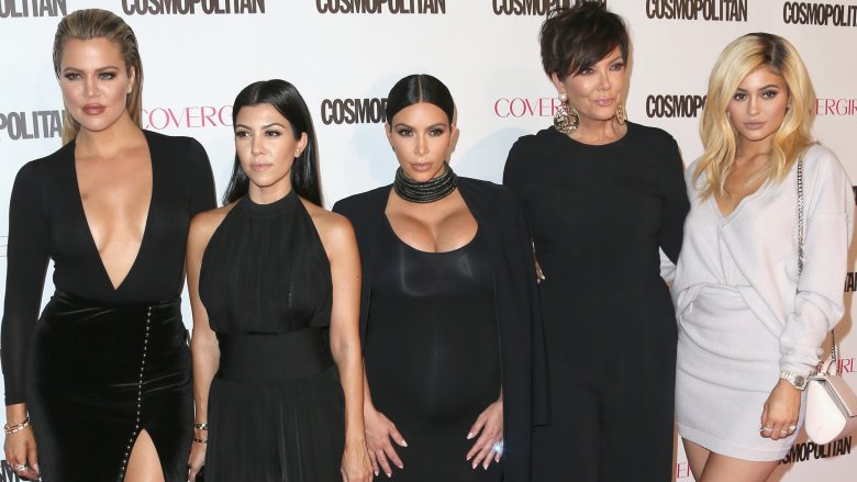 Khloé, Kourtney and Kim Kardashian and Kris and Kylie Jenner