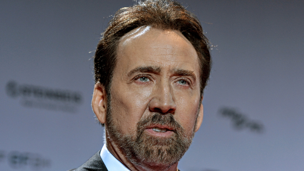 portrait of Nicolas Cage on the red carpet