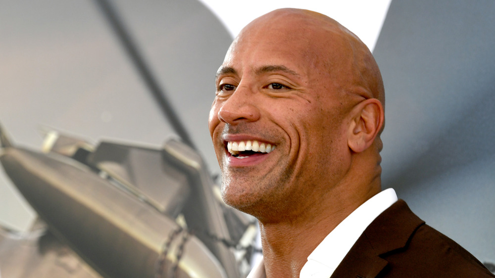 The Rock at a premeire