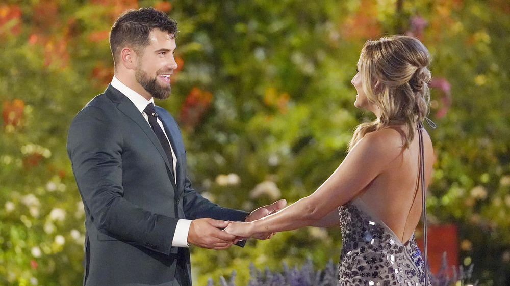 Blake Moynes meets Clare Crawley on the set of The Bachelorette