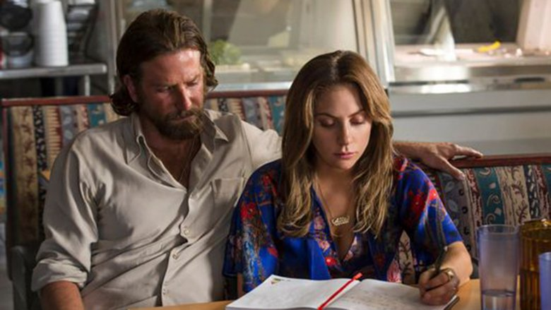 "Bradley Cooper as Jackson Maine and Lady Gaga as Ally in ""A Star Is Born"""