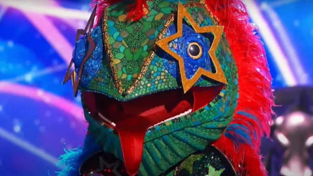 The Masked Singer's Chameleon onstage during the competition
