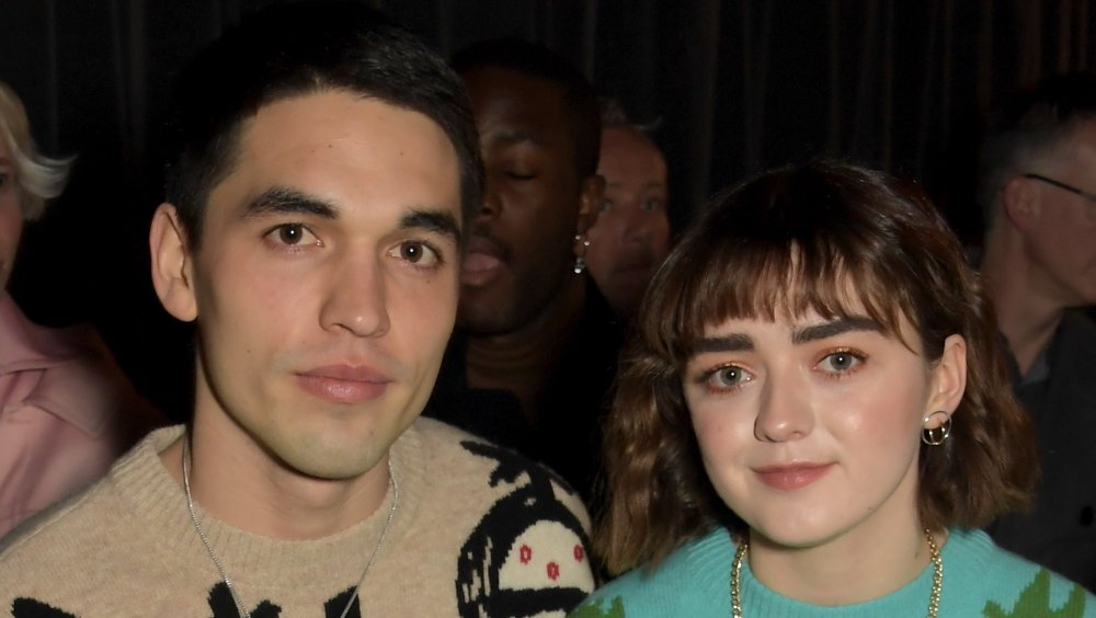 Reuben Selby and Maisie Williams at London Fashion Week in 2020