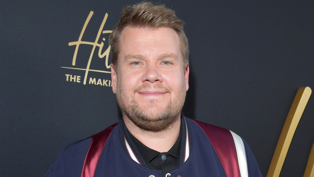 James Corden smiling at the camera