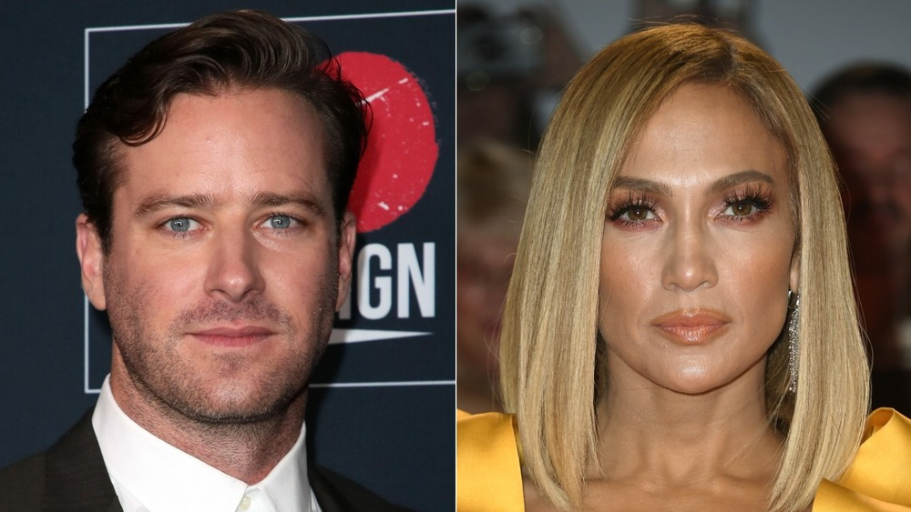 Armie Hammer, Jennifer Lopez looking serious