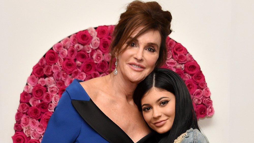 Caitlyn and Kylie Jenner smiling at Glamour Magazine event