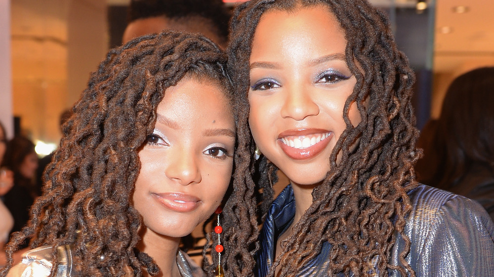 "Chloe and Halle Bailey at the premiere of ""Lion is King"""