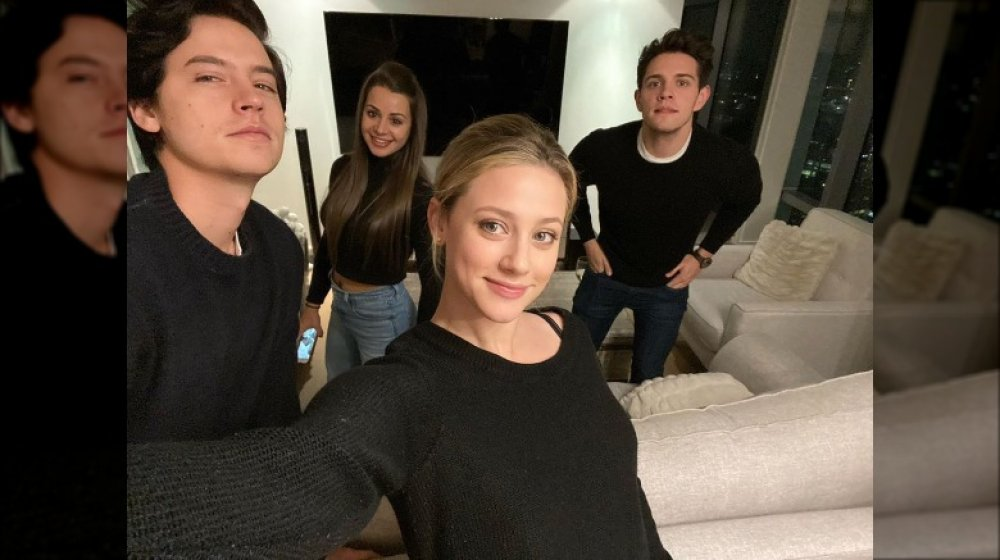 Cole Sprouse, Lili Reinhart with friends