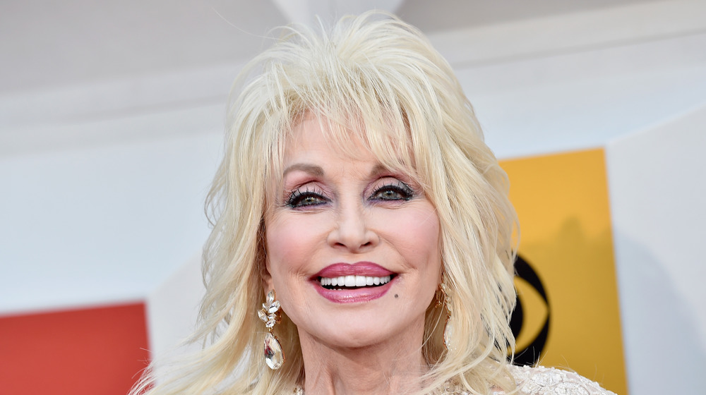 Dolly Parton grinning