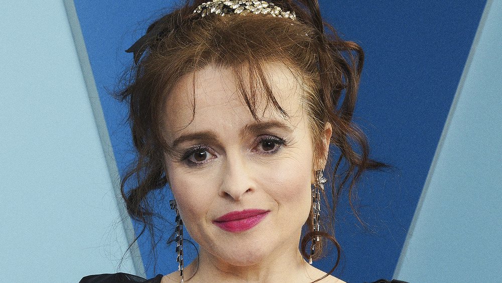 Helena Bonham Carter posing on the red carpet