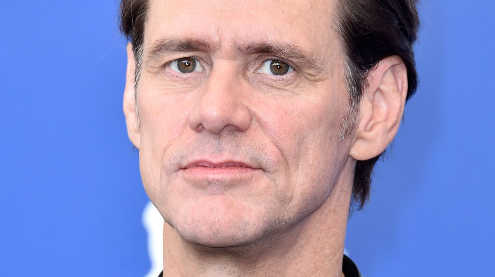 Jim Carrey looking somber