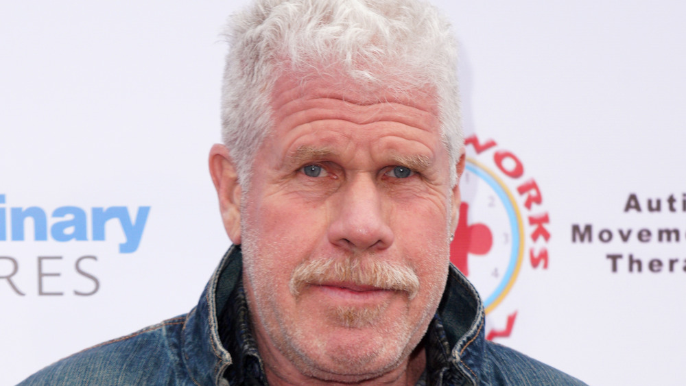 Ron Perlman posing on the red carpet