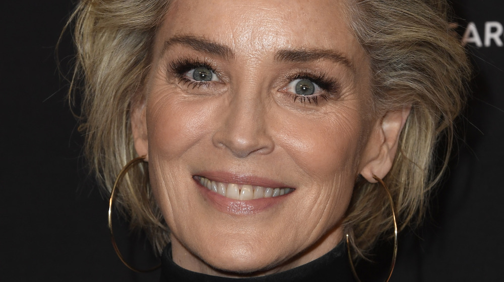 Sharon Stone smiling