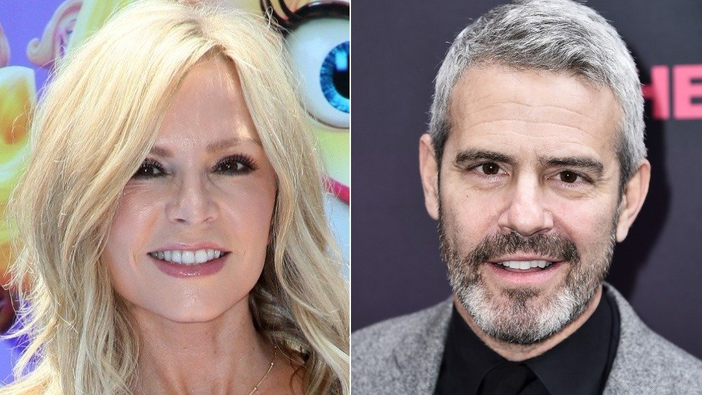 Tamra Judge and Andy Cohen