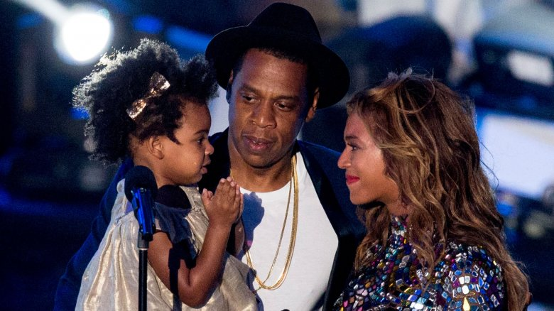 Blue Ivy Carter, Beyoncé, and Jay Z