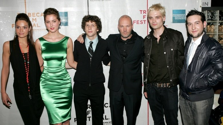 Fred Durst and the cast of The Education of Charlie Banks