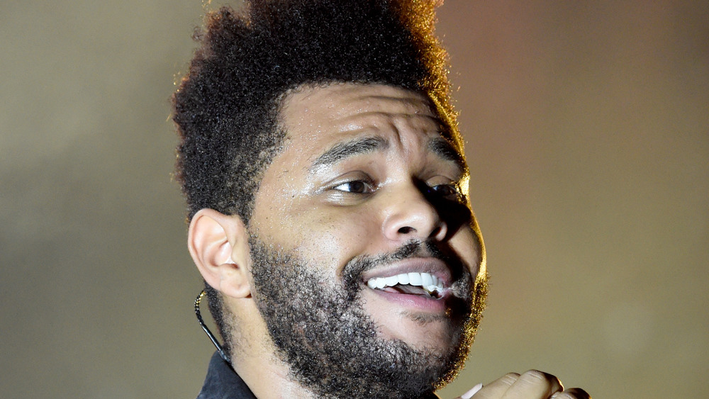 The Weeknd smiling