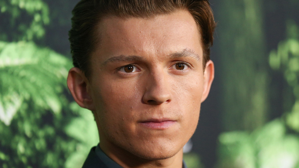 Tom Holland at a premiere
