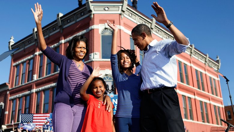 The stunning transformation of the Obama sisters