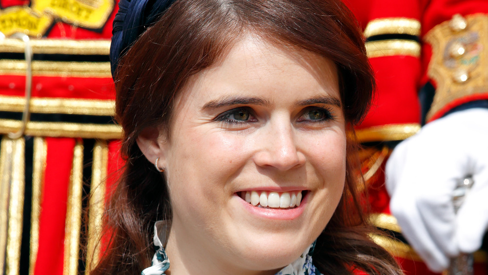Princess Eugenie posing at an event