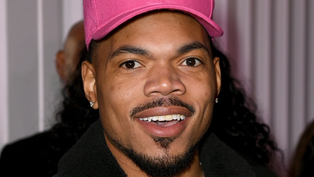 Chance the Rapper on the red carpet