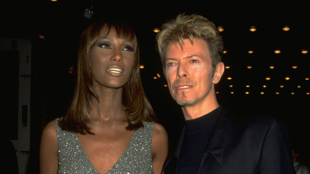 David Bowie and Iman on the red carpet