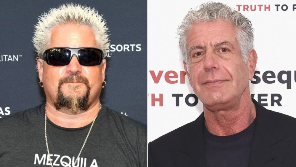 Guy Fieri and Anthony Bourdain