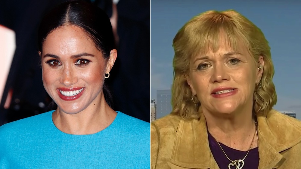 Meghan Markle at The Endeavour Fund Awards at Mansion House and Samantha Markle looking serious
