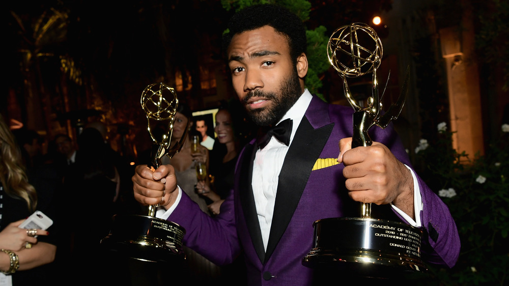 Donald Glover with his Emmys
