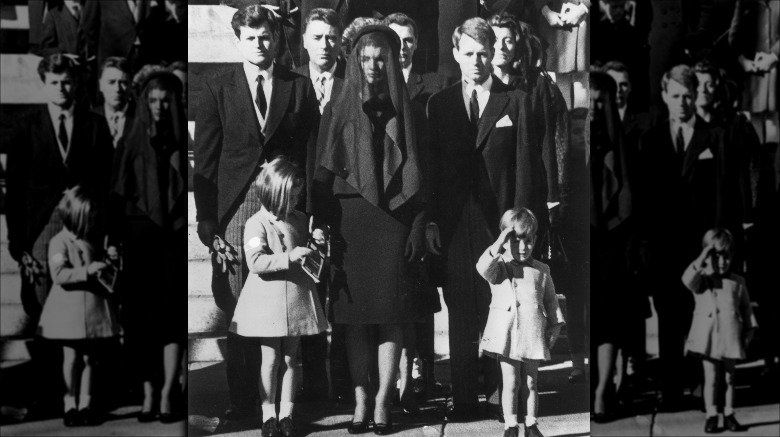 Jackie Kennedy Onassis at JFK's funeral