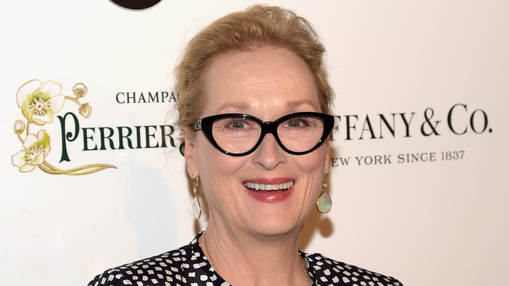 Meryl Streep at a cocktail party
