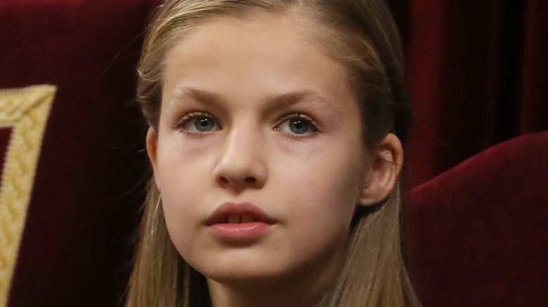 Princess Leonor looking into the distance 2018