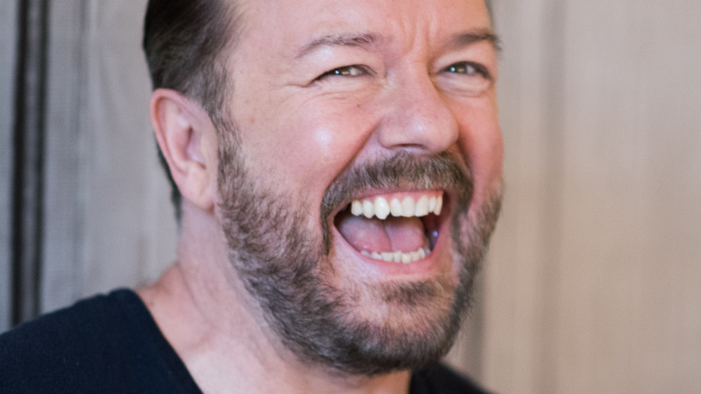 Ricky Gervais laughing