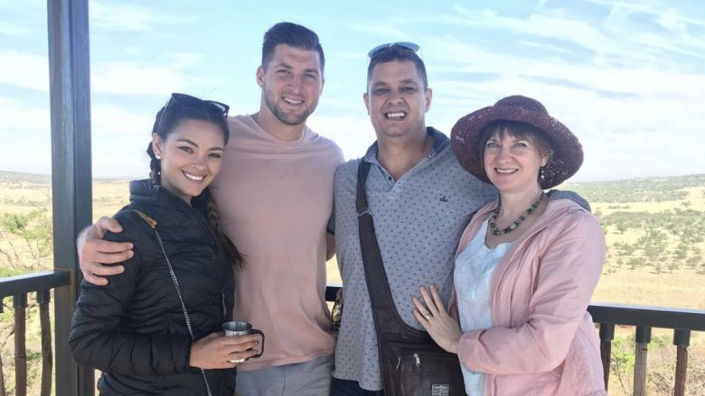 Demi-Leigh Nel-Peters, Tim Tebow, family