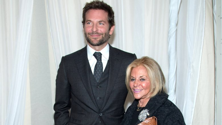 Bradley Cooper and his mom at the Joy premiere