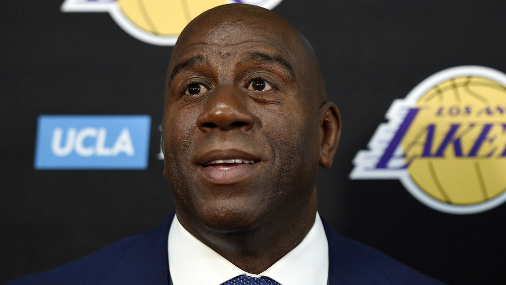 Magic Johnson stepping down as president of basketball operations for the Los Angeles Lakers