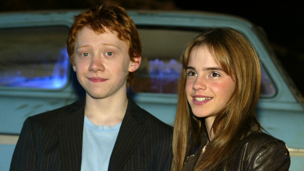 Rupert Grint and Emma Watson at the premiere of Harry Potter and the Chamber of Secrets