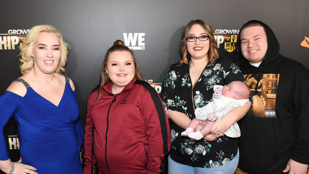 June Shannon, Alana Thompson, Lauryn Shannon and Josh Efird on red carpet