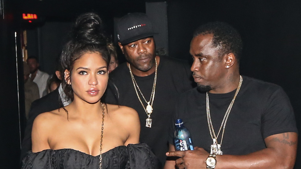 Diddy looking at Cassie