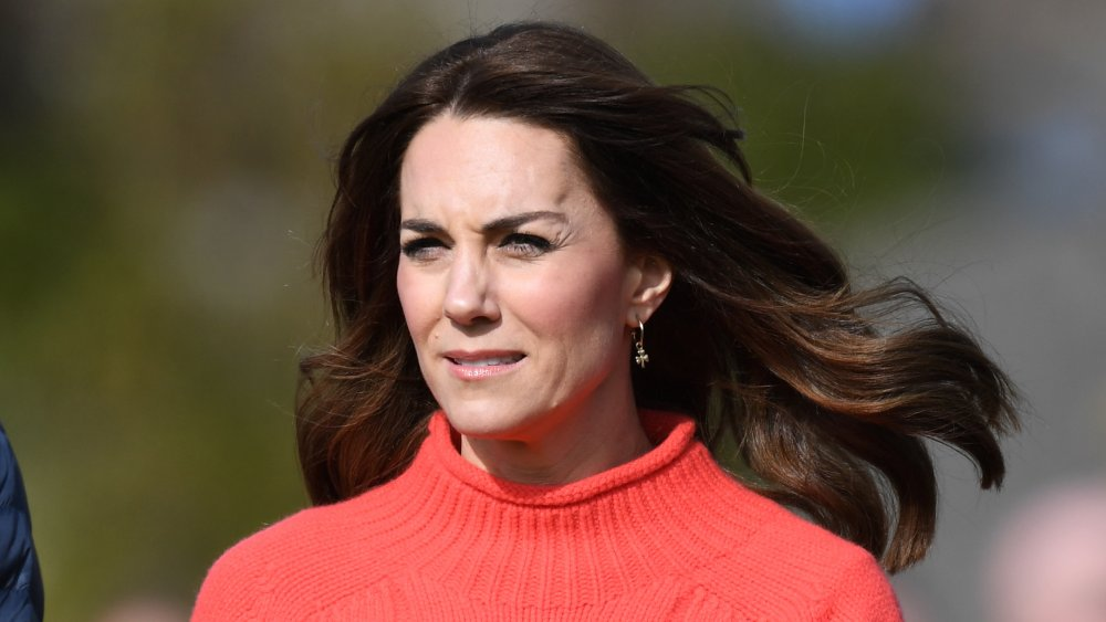 Catherine, Duchess of Cambridge watches Gaelic Football and Hurling as part of their visit to Salthill Knocknacarra GAA Club