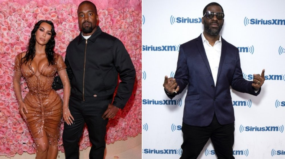 Kim Kardashian, Kanye West and Rhymefest