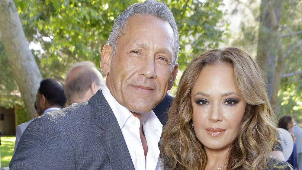Angelo Pagan and Leah Remini at the HollyRod Foundation's 20th Annual DesignCare Gala
